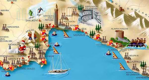 نقشه آنتالیا